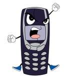 Historieta enojada del teléfono Foto de archivo libre de regalías