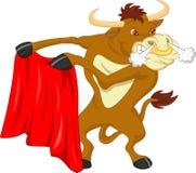 Historieta enojada del toro Fotografía de archivo libre de regalías