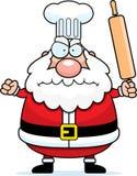 Historieta enojada Santa Claus Chef Foto de archivo