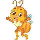 Historieta feliz de la abeja Fotos de archivo libres de regalías