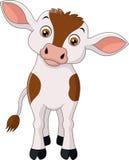 Historieta feliz de la vaca Fotos de archivo libres de regalías