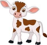 Historieta feliz de la vaca Fotos de archivo