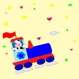 Historieta feliz de la vaca Imagen de archivo