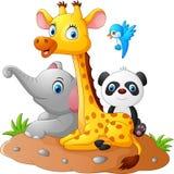 Historieta feliz del animal del safari Imágenes de archivo libres de regalías