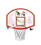 Historieta feliz del aro de baloncesto Imágenes de archivo libres de regalías
