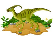 Historieta feliz del dinosaurio Imágenes de archivo libres de regalías