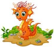 Historieta feliz del dragón Fotografía de archivo libre de regalías