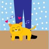 Historieta feliz del gato Fotografía de archivo