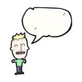 historieta grande del muchacho principal Imagen de archivo libre de regalías