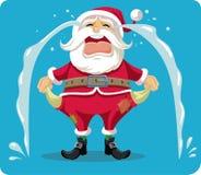 Historieta gritadora triste de Santa With Empty Pockets Vector Fotografía de archivo libre de regalías