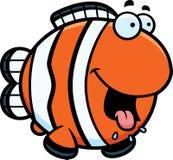 Historieta hambrienta Clownfish ilustración del vector