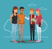 Historieta joven de los amigos libre illustration