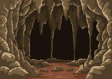 Historieta la cueva con estalactitas ilustración del vector