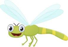 Historieta linda de la libélula ilustración del vector