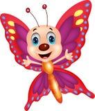 Historieta linda de la mariposa Imagen de archivo libre de regalías