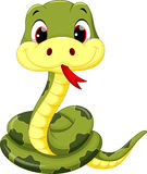 Historieta linda de la serpiente del bebé ilustración del vector