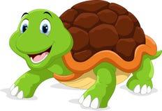 Historieta linda de la tortuga stock de ilustración