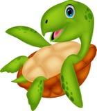Historieta linda de la tortuga de mar Fotografía de archivo libre de regalías