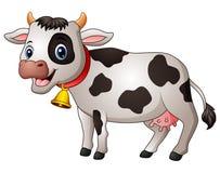 Historieta linda de la vaca ilustración del vector