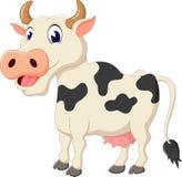 Historieta linda de la vaca stock de ilustración