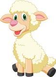 Historieta linda de las ovejas stock de ilustración