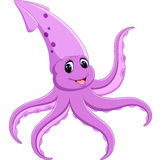 Historieta linda del calamar Imagen de archivo libre de regalías