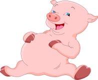 Historieta linda del cerdo stock de ilustración