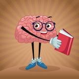 Historieta linda del cerebro ilustración del vector