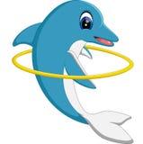 Historieta linda del delfín Foto de archivo