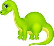 Historieta linda del dinosaurio stock de ilustración