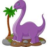 Historieta linda del dinosaurio Foto de archivo
