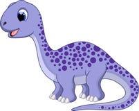 Historieta linda del diplodocus Imagen de archivo libre de regalías