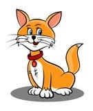 Historieta linda del gato ilustración del vector