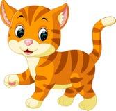 Historieta linda del gato stock de ilustración