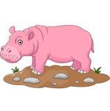 Historieta linda del hipopótamo Fotos de archivo
