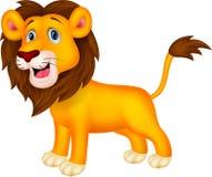 Historieta linda del león stock de ilustración