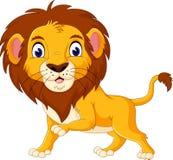 Historieta linda del león Fotos de archivo