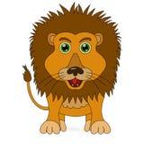 Historieta linda del león del colorante del vector libre illustration