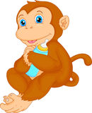 Historieta linda del mono Foto de archivo libre de regalías