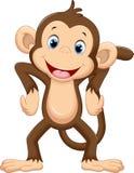 Historieta linda del mono libre illustration