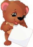 Historieta linda del oso del bebé Foto de archivo libre de regalías
