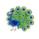 Historieta linda del pavo real ilustración del vector