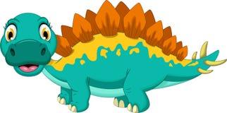 Historieta linda del stegosaurus ilustración del vector