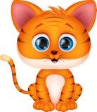 Historieta linda del tigre stock de ilustración