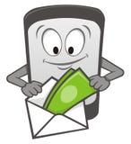 Historieta móvil del pago Fotografía de archivo libre de regalías