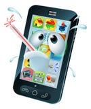 Historieta móvil del teléfono celular del virus ilustración del vector