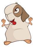 Historieta marrón divertida del conejillo de Indias Foto de archivo libre de regalías