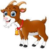 Historieta marrón linda de la cabra ilustración del vector