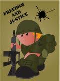 Historieta militar ilustración del vector