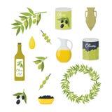 Historieta Olive Oil Elements Set Vector ilustración del vector